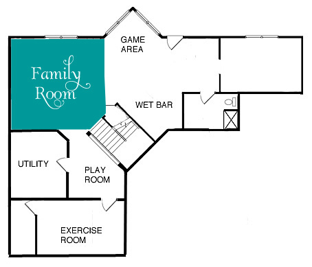 Family Room Furniture Plan
