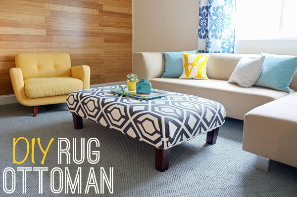 How A $50 Rug Can Turn An Outdated Ottoman Into A Statement Piece