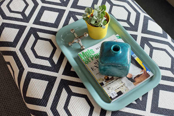 I Will Definitely Be Adding A Large Tray, So The Ottoman Can Double As A Coffee  Table. DIY Rug Ottoman
