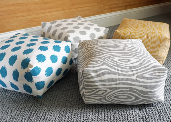 Make Floor Pillows Cushions : DIY Easy Boxy Floor Cushions School of Decorating by Jackie Hernandez