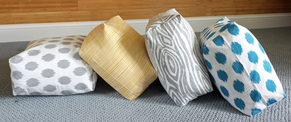Easy To Make Floor Pillows : DIY Easy Boxy Floor Cushions