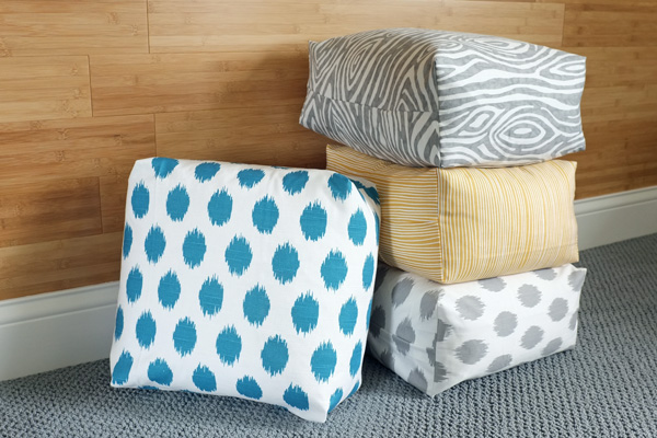 One Extra Step That Can Easily Turn Any Pillow Cover into a Box Cushion | tealandlime.com