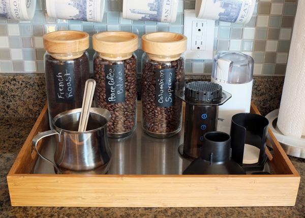 countertop coffee bar