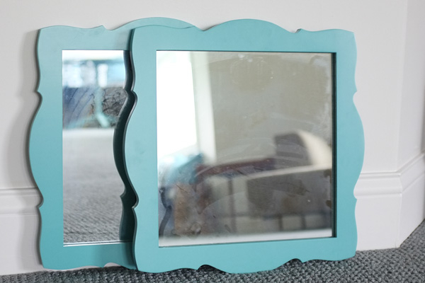 turquoise decorative mirror