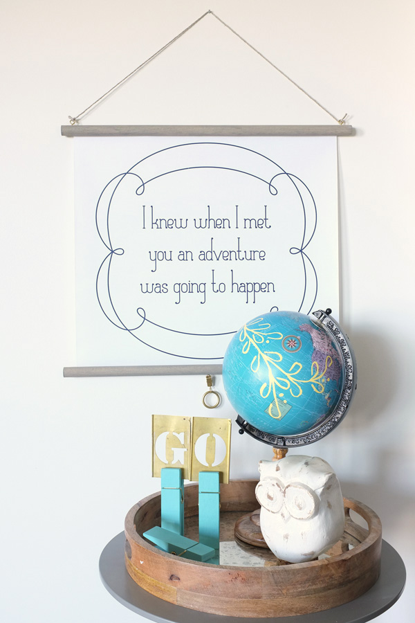faux educational pull down poster