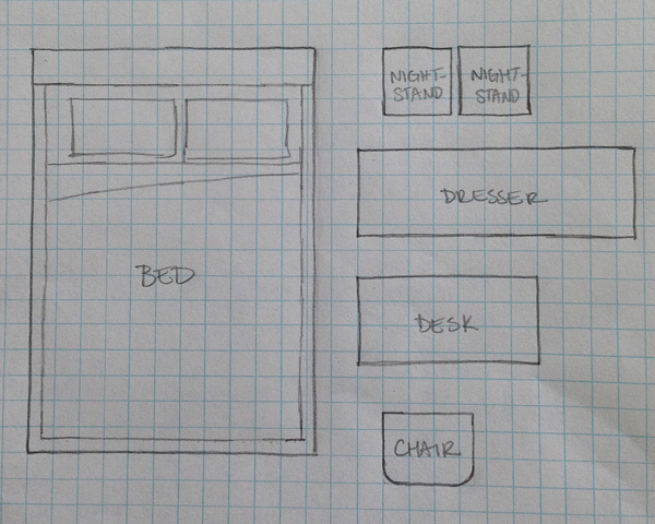 Kids Bedroom Drawing decorating with kids: furniture layout