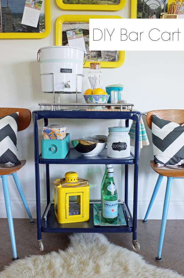 DIY Bar Cart Stunning Sewing Machine Bar Cart