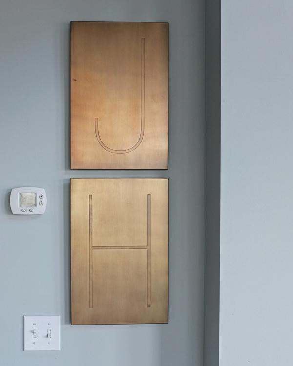 brass wall letters
