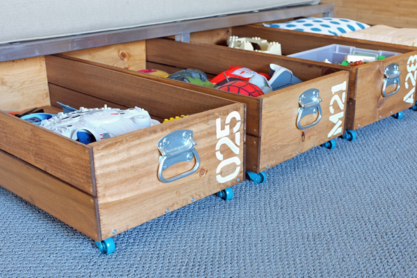 Diy rolling toy storage crates Easy diy storage ideas for small homes