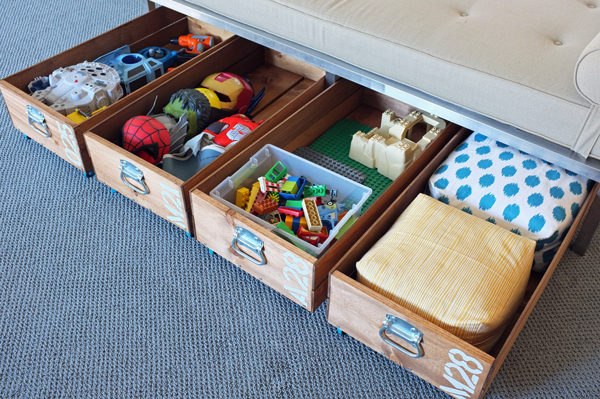 DIY rolling toy storage crate