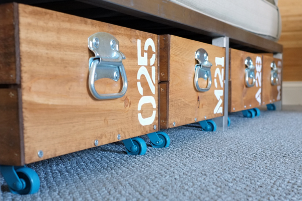 DIY Rolling Toy Storage Crates