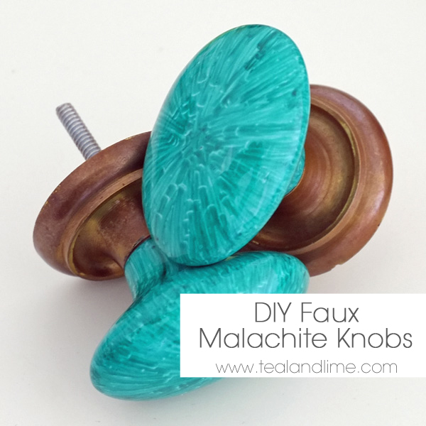 DIY Faux Malachite Knobs