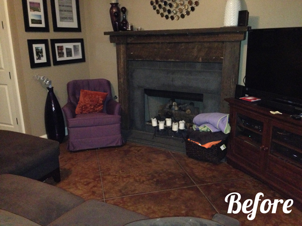 Tasteful Teal Living Room