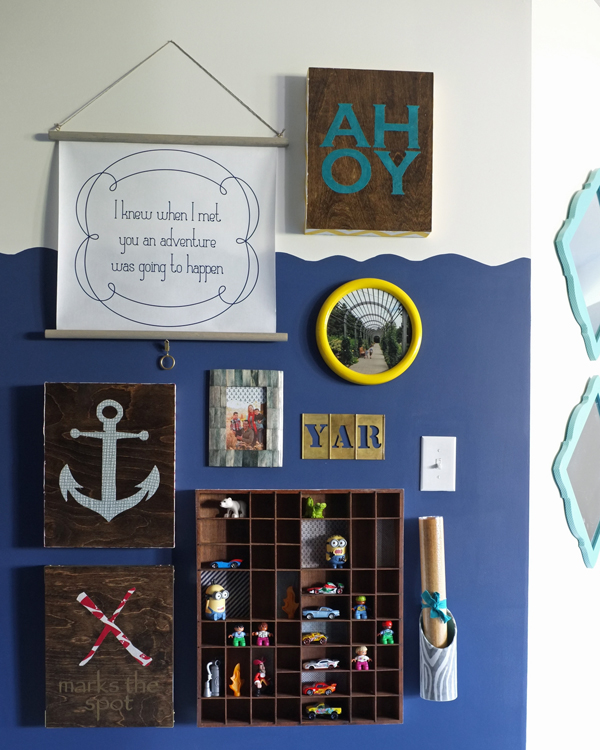 Pirate Playroom Gallery Wall