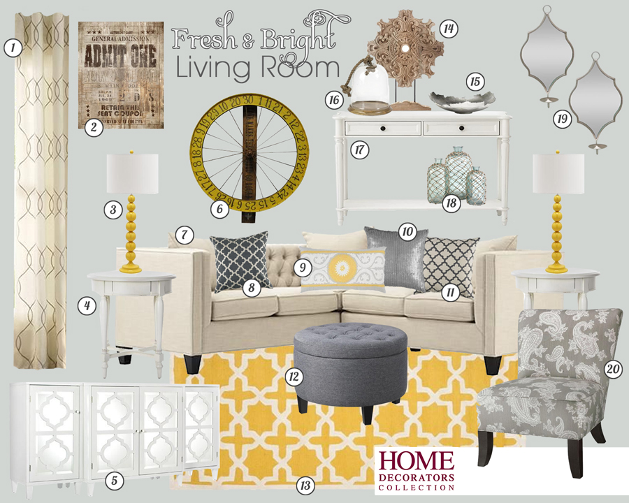 Home Decorators Collection Yellow Living Room