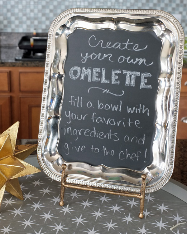 DIY Chalkboard Menu Tray