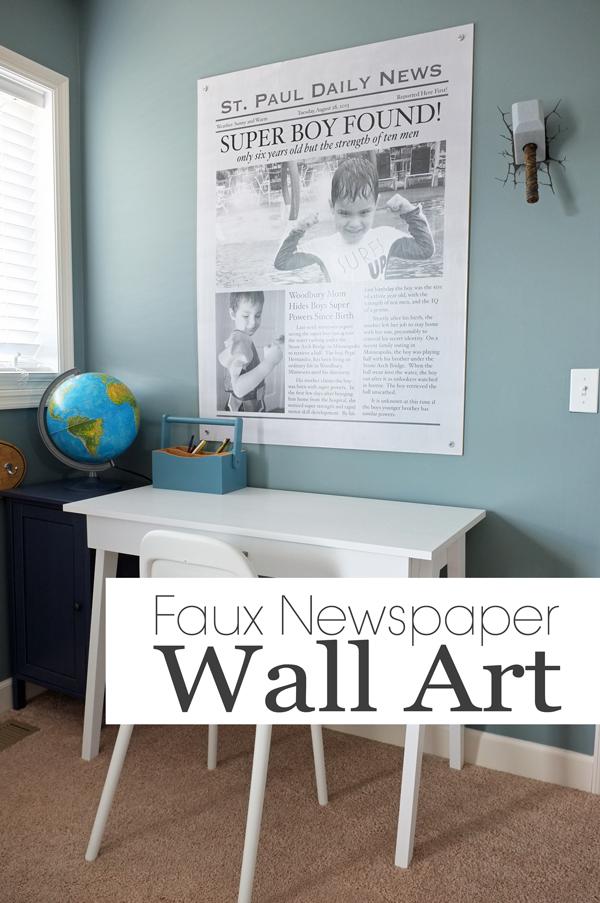 Faux Newspaper Wall Art