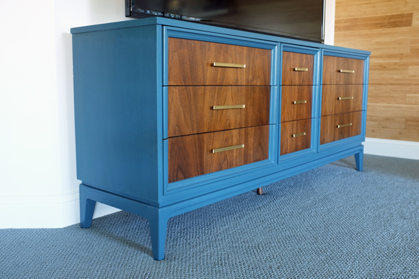 Retro Dresser Turned Modern Media Stand