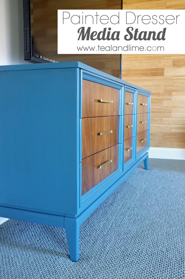 Painted Dresser Modern Media Stand