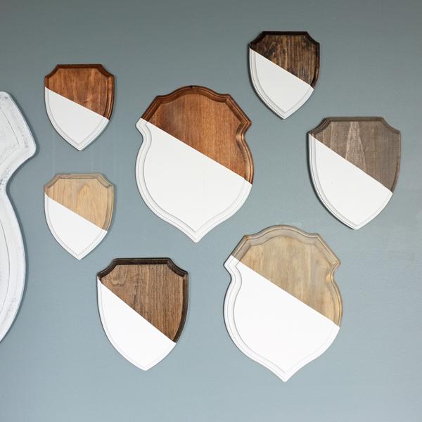Rustic modern shields