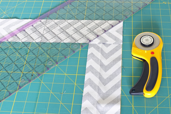 DIY-herringbone-mirror-cutting-fabric
