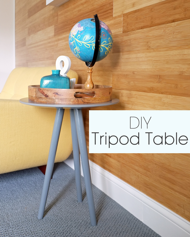 DIY Tripod Accent Table School of Decorating