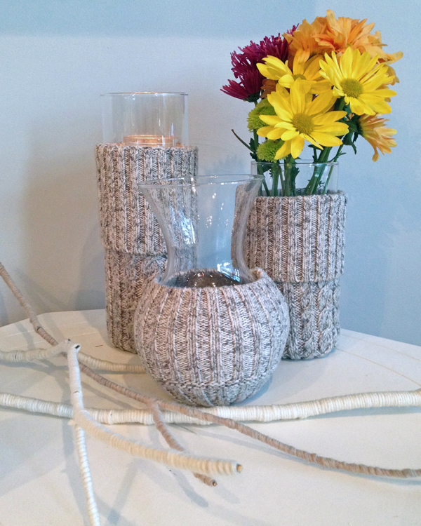 Diy Fall Decorating Projects Plaster Gourds And Sweater Vases