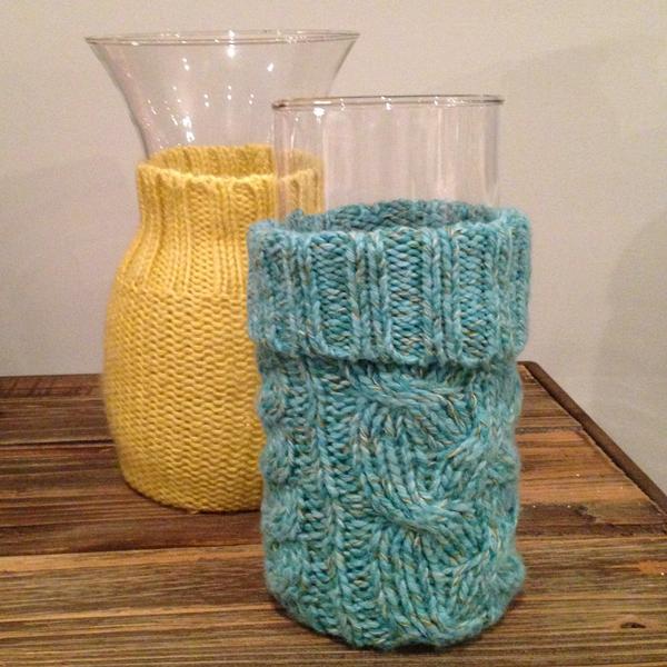 DIY Sweater Vases