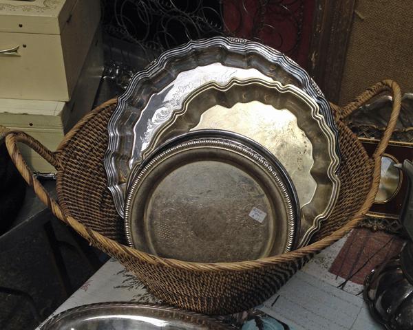 Flea Market Silver Trays