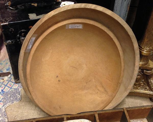 Flea Market Wooden Bowls