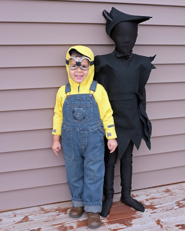 Kids Minion and Peter Pan's Shadow Costumes
