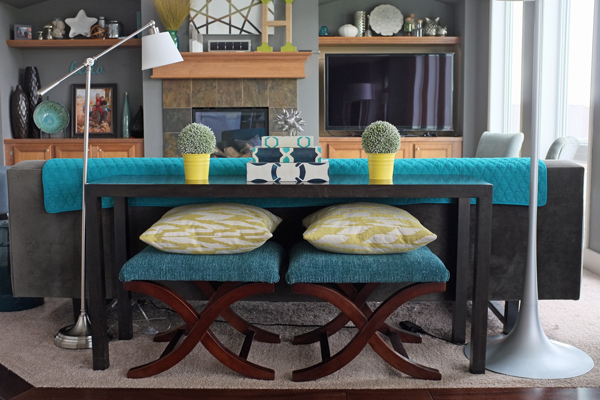 How To Style A Sofa Table - Console behind sofa