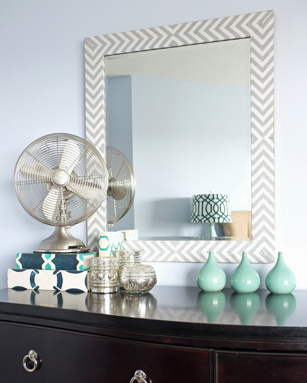 DIY West Elm-Inspired Herringbone Mirror