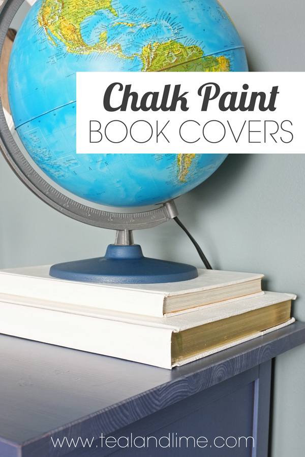 DIY White Chalk Paint Book Covers