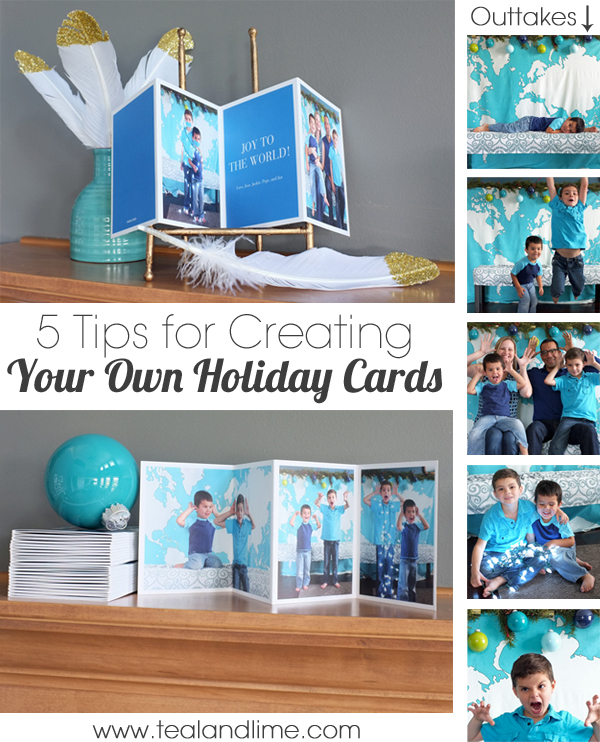 Tips fr Creating Your Own Holiday Cards | tealandlime.com