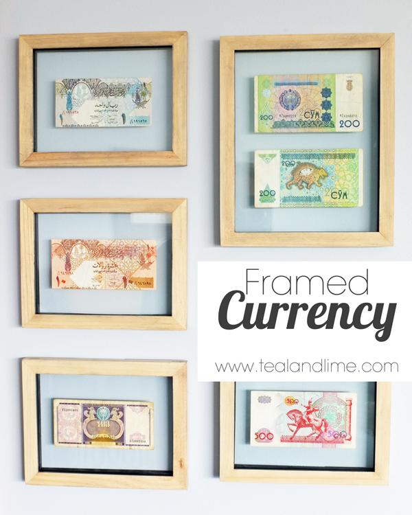 Floating Framed Currency