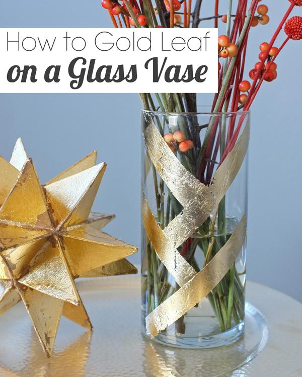 How to Gold Leaf on Glass | tealandlime.com