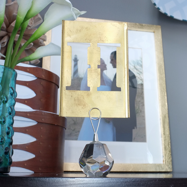 Sweet personal touches on this gorgeous nightstand | tealandlime.com