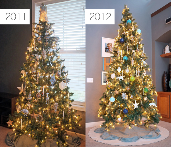 Christmas Tree Comparison | tealandlime.com