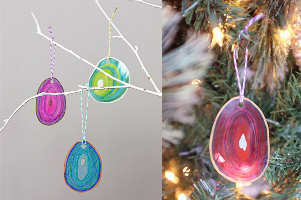 Laminated Ornaments with Sharpie Markers | tealandlime.com