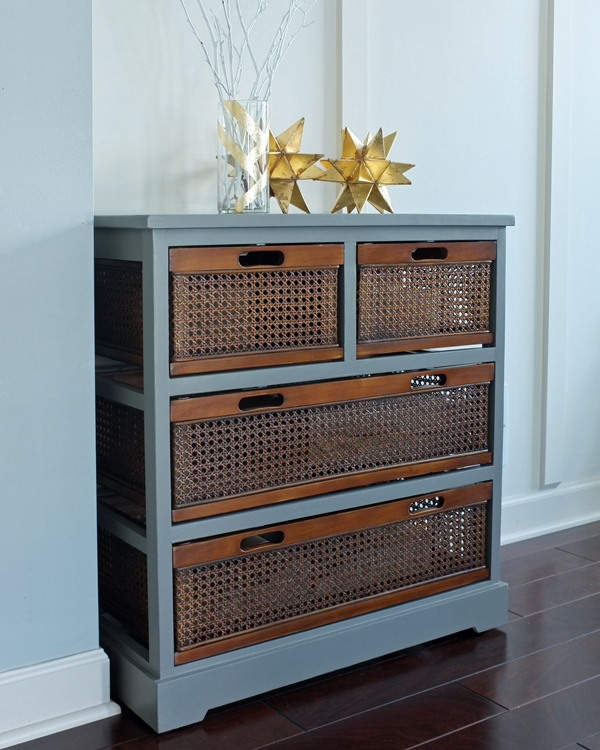 gray-cabinet-with-wood-cane-drawers