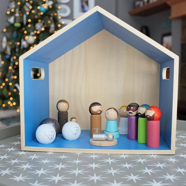 DIY Modern Peg Doll Nativity Set   tealandlime.com