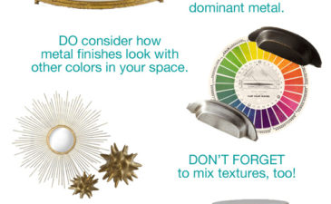 Design Do's and Don'ts: Mixing Metal Finishes
