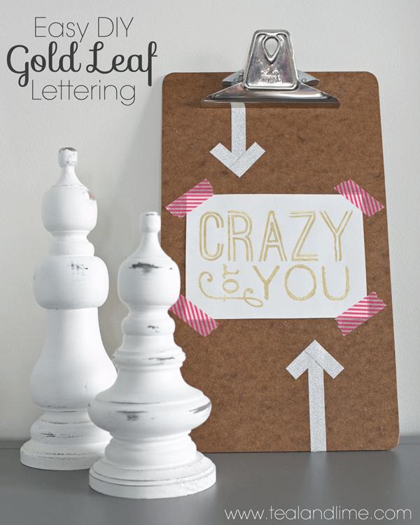 How to make custom gold leaf art prints | tealandlime.com