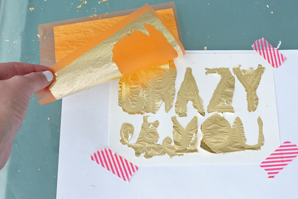 How to make custom gold leaf art prints | tealandlime.com