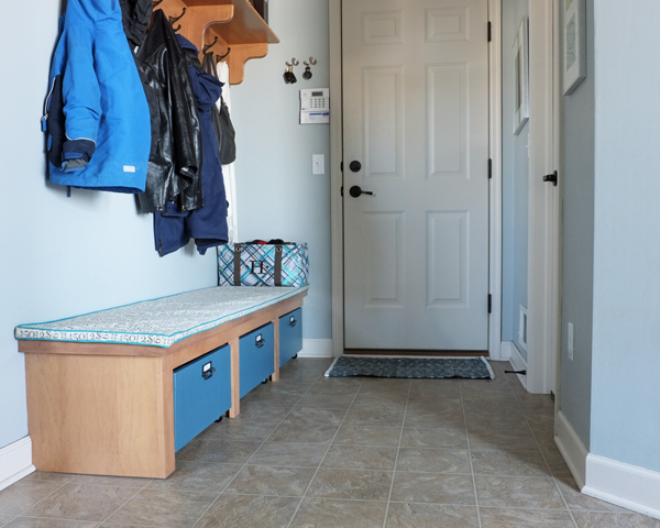 Mudroom Storage Drawers : Diy faux storage drawers to end the mudroom mayhem