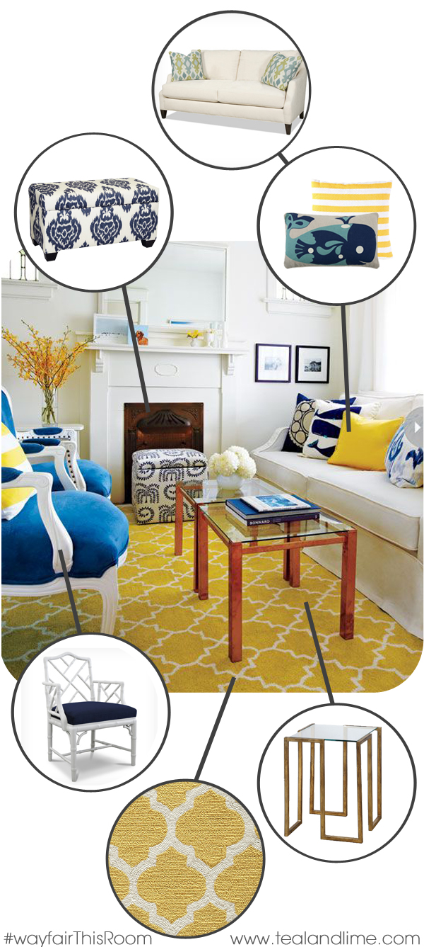 Full Source List to Recreate this Fresh & Happy Living Room
