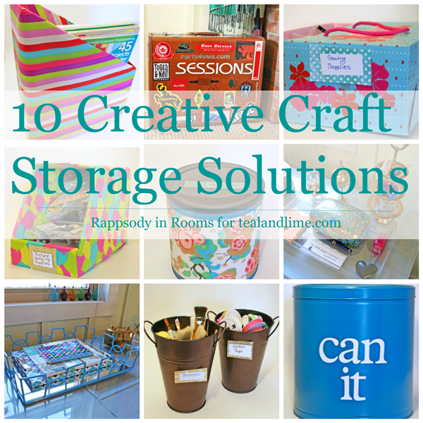 10 ways to store your craft supplies in plain sight teal