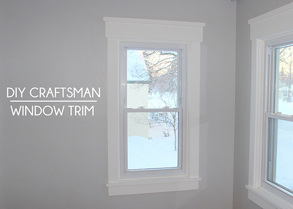 How to install craftsman style window trim school of for Contemporary exterior window trim