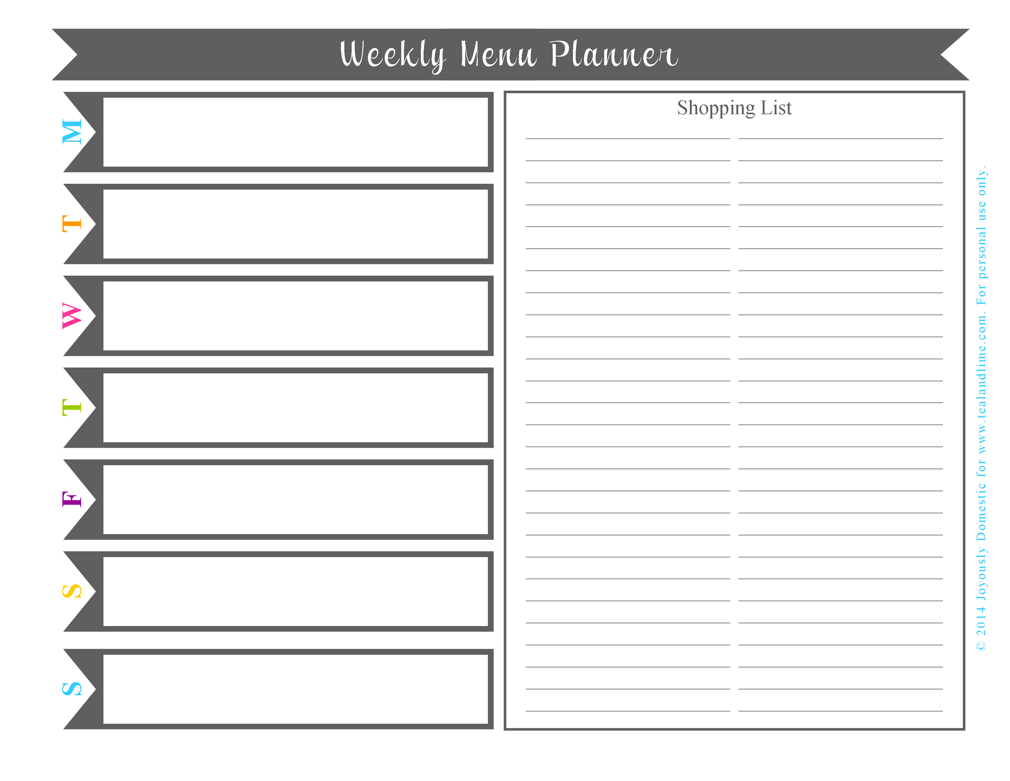 Plan Your Weekly Dinner Menu in Under 30 Minutes Free Printable – Free Printable Weekly Planner